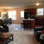 living,dining,kitchen panorama
